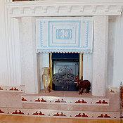 Для дома и интерьера handmade. Livemaster - original item Curtain panels with lining. Hand embroidery. Len. Handmade.