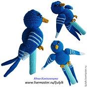 """Куклы и игрушки ручной работы. Ярмарка Мастеров - ручная работа """"Синяя птица"""" погремушка. Handmade."""