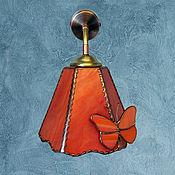Для дома и интерьера handmade. Livemaster - original item Wall lamp bell with butterflies. Handmade.