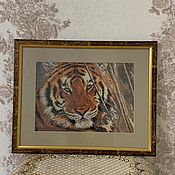 Комплекты аксессуаров для дома ручной работы. Ярмарка Мастеров - ручная работа Тигр полосатый. Handmade.