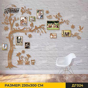 Для дома и интерьера ручной работы. Ярмарка Мастеров - ручная работа Большое семейное дерево с котиками. Handmade.