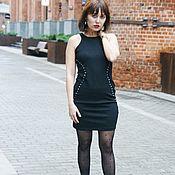 Одежда винтажная ручной работы. Ярмарка Мастеров - ручная работа Черное платье Guess Черное Платье из трикотажа. Handmade.