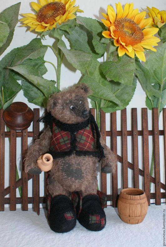 Мишки Тедди ручной работы. Ярмарка Мастеров - ручная работа. Купить Кузя. Handmade. Тедди, мишка в подарок, шерсть