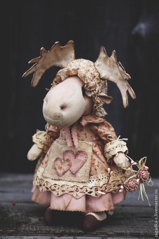 Ароматизированные куклы ручной работы. Ярмарка Мастеров - ручная работа. Купить Лосиха.. Handmade. Бледно-розовый, подарок девушке