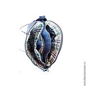 Сумки и аксессуары ручной работы. Ярмарка Мастеров - ручная работа Джинсовая сумка, клатч. Handmade.