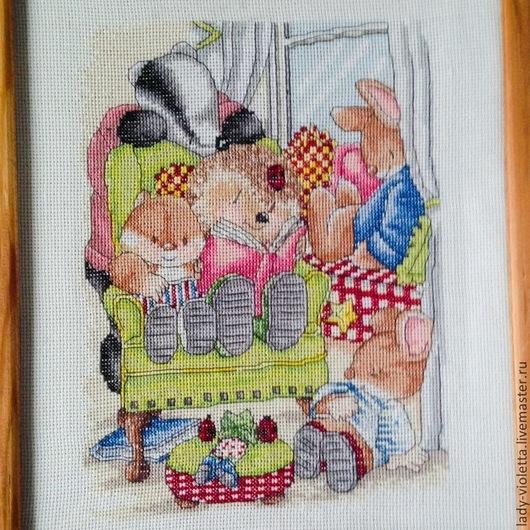 """Детская ручной работы. Ярмарка Мастеров - ручная работа. Купить Картина """"Читатели Country Companions"""". Handmade. Еж, country companions"""