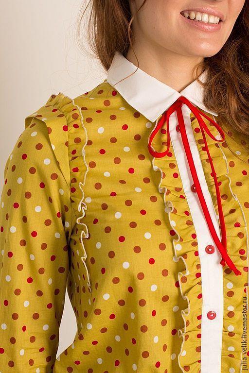 Блузки ручной работы. Ярмарка Мастеров - ручная работа. Купить Рубашка Твоя До Дыр. Handmade. В горошек