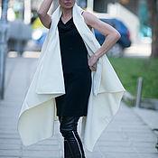 Одежда handmade. Livemaster - original item White cashmere cardigan vest. Handmade.