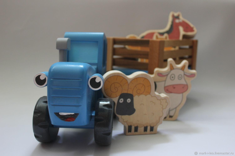 Большой Синий трактор из мультика, Техника роботы транспорт, Москва,  Фото №1