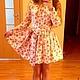 Платья ручной работы. Ярмарка Мастеров - ручная работа. Купить Платье Кукольное из хлопка. Handmade. Цветочный, платье с розами