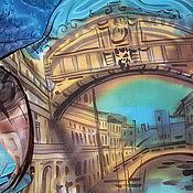 Аксессуары ручной работы. Ярмарка Мастеров - ручная работа Венеция — город на воде. Батик шарф. Handmade.