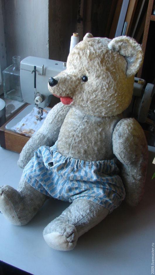 Винтажные куклы и игрушки. Ярмарка Мастеров - ручная работа. Купить Медведь винтажный реставрация 1960 годы. Handmade. Серый, игрушка