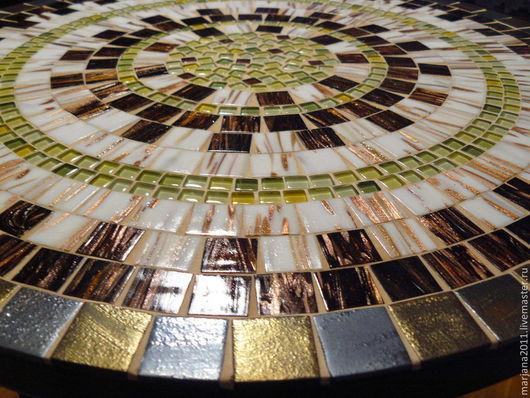 """Мебель ручной работы. Ярмарка Мастеров - ручная работа. Купить Столик с мозаикой  """"Весна в горах"""". Handmade. Мозаика, мозаичный столик"""