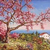 Картины и панно handmade. Livemaster - original item Oil painting cherry blossoms. Handmade.