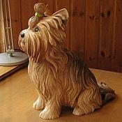 Для дома и интерьера ручной работы. Ярмарка Мастеров - ручная работа YORKSHIR - скульптура йоркширского терьера. Handmade.