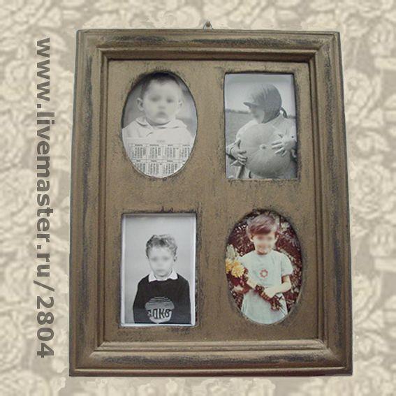 Фоторамки ручной работы. Ярмарка Мастеров - ручная работа. Купить Фоторамка № 09 деревянная ручной работы Рамка семейный альбом. Handmade.