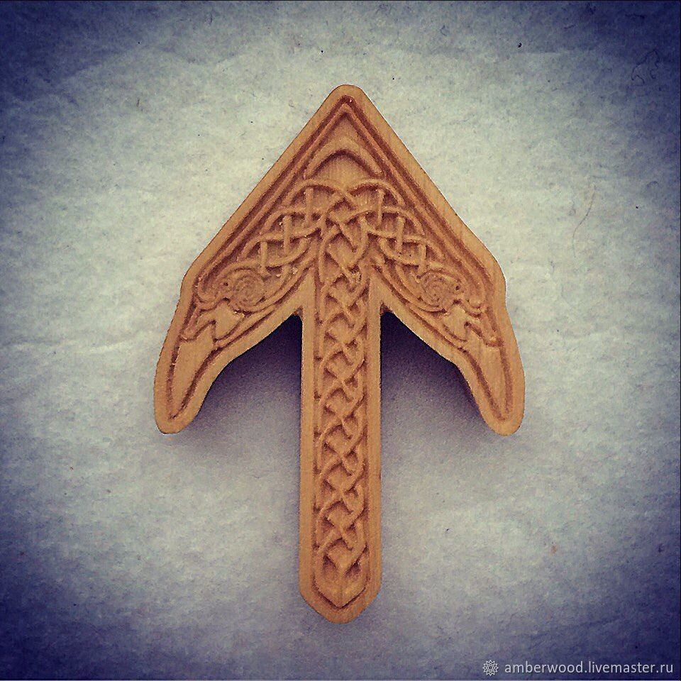 Pendant Rune Of The Warrior, Folk decorations, Kaliningrad,  Фото №1