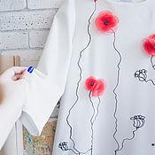 Одежда ручной работы. Ярмарка Мастеров - ручная работа платье Маки. Handmade.