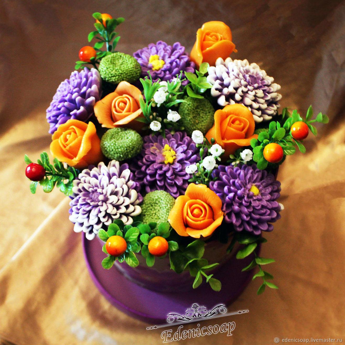 """""""Цветочные композиции"""" букет мыло сувенирное  цветы, Мыло, Москва,  Фото №1"""