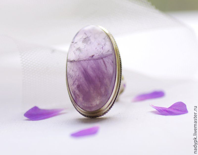 Ring with amethyst 'lavender Mountain', Rings, Moscow,  Фото №1