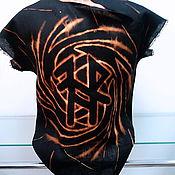 """Одежда ручной работы. Ярмарка Мастеров - ручная работа Рубашка косоворотка мужская  """"Руны"""" из льна. Handmade."""