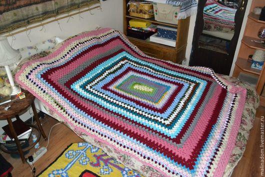 """Текстиль, ковры ручной работы. Ярмарка Мастеров - ручная работа. Купить Плед вязанный """"Для мамы"""". Handmade. Разноцветный, плед"""