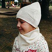 Caps handmade. Livemaster - original item Knitted set Star. Handmade.