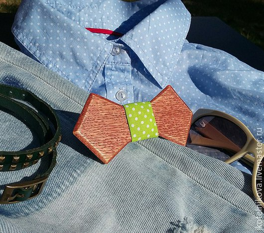 Галстуки, бабочки ручной работы. Ярмарка Мастеров - ручная работа. Купить Деревянный галстук бабочка. Handmade. Салатовый, подарок мужчине
