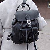 Сумки и аксессуары handmade. Livemaster - original item Women`s black leather backpack Loretta Mod P53-711. Handmade.