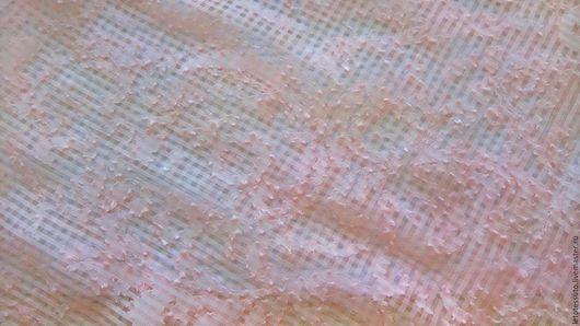 Шитье ручной работы. Ярмарка Мастеров - ручная работа. Купить Итальянский шелковый батист  жаккард. Handmade. Бледно-розовый
