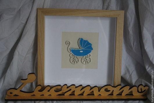 """Символизм ручной работы. Ярмарка Мастеров - ручная работа. Купить Панно """"С новорожденным"""". Handmade. Голубой, панно, панно на стену"""