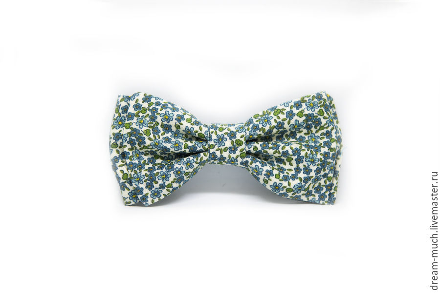 Bow tie in light blue small flower, Ties, Moscow,  Фото №1