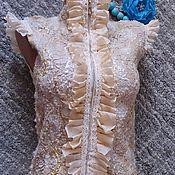 "Одежда ручной работы. Ярмарка Мастеров - ручная работа Валяный жилет ""Golden butterfly"". Handmade."