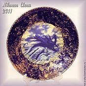 """Посуда ручной работы. Ярмарка Мастеров - ручная работа декоративная тарелка """"Чёрный дракон"""". Handmade."""