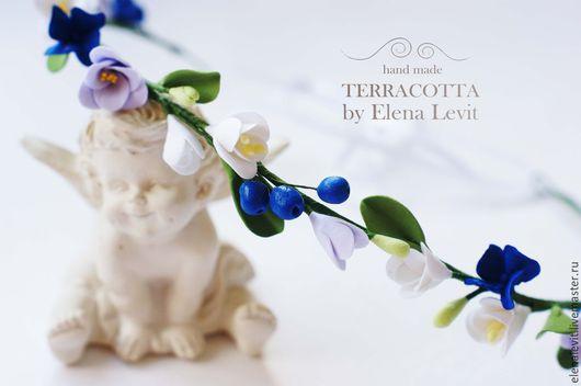 Венок из полимерной глины. Terracotta by Elena Levit.