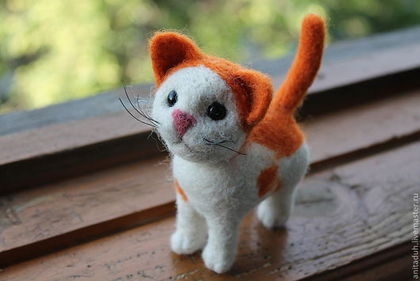 """Игрушки животные, ручной работы. Ярмарка Мастеров - ручная работа Войлочная игрушка """"Кот Шанс"""". Handmade."""
