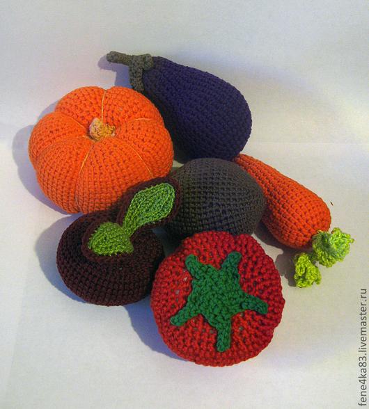 Еда ручной работы. Ярмарка Мастеров - ручная работа. Купить Вязаные овощи. Handmade. Овощи, морковь, огурец, репка