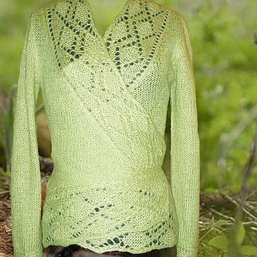 """Одежда ручной работы. Ярмарка Мастеров - ручная работа Кофта с запахом """"Весенняя зелень"""". Handmade."""