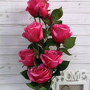 Материалы для творчества ручной работы. Ярмарка Мастеров - ручная работа Искусственные цветы розы кустовые. Handmade.