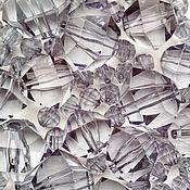 Бусины прозрачные граненые