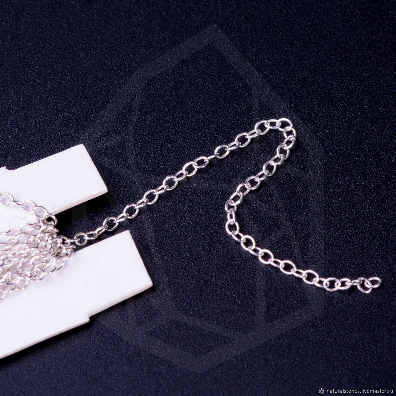 Цепь мелкая Sterling Silver 925, Фурнитура, Пермь, Фото №1