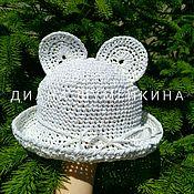 Аксессуары handmade. Livemaster - original item Minnie`s raffia hat. Handmade.