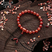 Фен-шуй и эзотерика handmade. Livemaster - original item Buddhist prayer beads Mala of carnelian (10mm), 21 bead, knot Mahakala). Handmade.