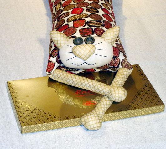 """Текстиль, ковры ручной работы. Ярмарка Мастеров - ручная работа. Купить Игрушка-подушка """"Радужный кот"""" лакомый кусочек. Handmade."""