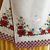 """Свадебный салон ручной работы. Ярмарка Мастеров - ручная работа Свадебный рушник """"Алые маки"""". Handmade."""