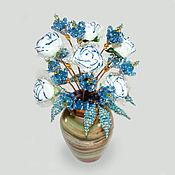"""Цветы и флористика ручной работы. Ярмарка Мастеров - ручная работа Цветы из топаза """"Топазовая свадьба"""". Handmade."""