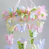 Работы для детей, handmade. Livemaster - original item The mobile in the crib for girl - Butterfly. Handmade.