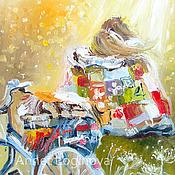 Картины и панно ручной работы. Ярмарка Мастеров - ручная работа Время двоих: под солнцем. Handmade.