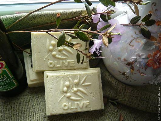 Мыло ручной работы. Ярмарка Мастеров - ручная работа. Купить Мыло оливковое 100% натуральное. Handmade. Оливковый, мыло натуральное
