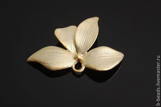 Для украшений ручной работы. Ярмарка Мастеров - ручная работа. Купить Подвеска-коннектор цветок с позолотой. Handmade.